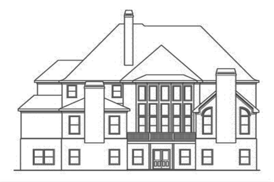 104-1125: Home Plan Rear Elevation