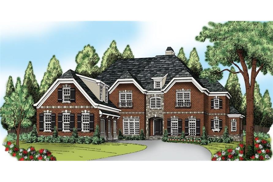 104-1125: Home Plan Rendering-Front Door