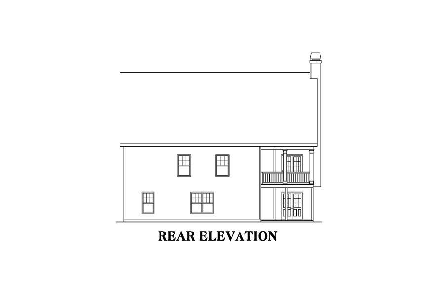 104-1126: Home Plan Rear Elevation