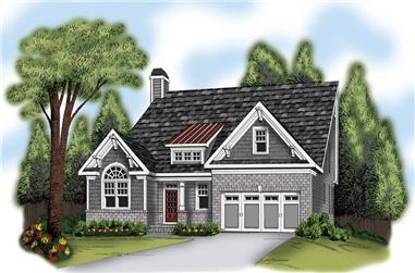 3-Bedroom, 2084 Sq Ft Ranch Home Plan - 104-1126 - Main Exterior