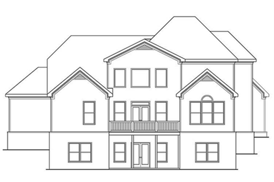 104-1127: Home Plan Rear Elevation