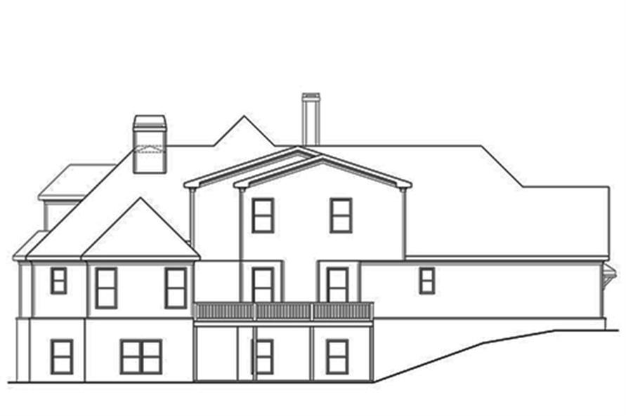 104-1128: Home Plan Rear Elevation