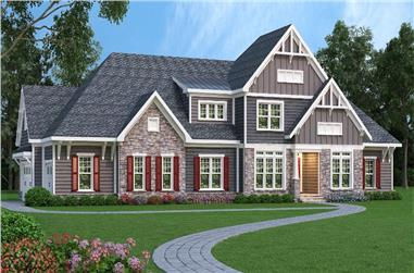 4-Bedroom, 4242 Sq Ft Craftsman Home Plan - 104-1128 - Main Exterior