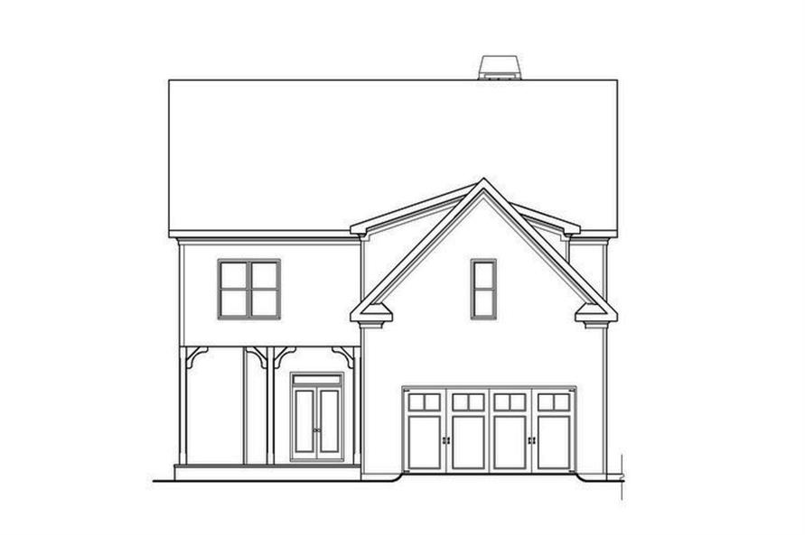 104-1129: Home Plan Rear Elevation