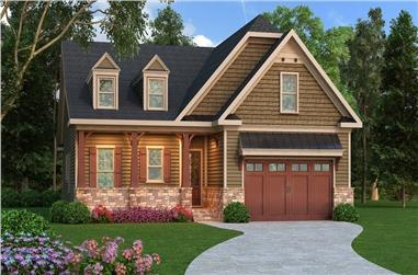 3-Bedroom, 2110 Sq Ft Craftsman Home Plan - 104-1130 - Main Exterior