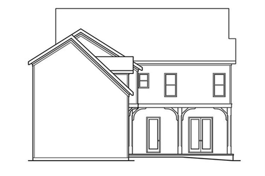 104-1131: Home Plan Rear Elevation