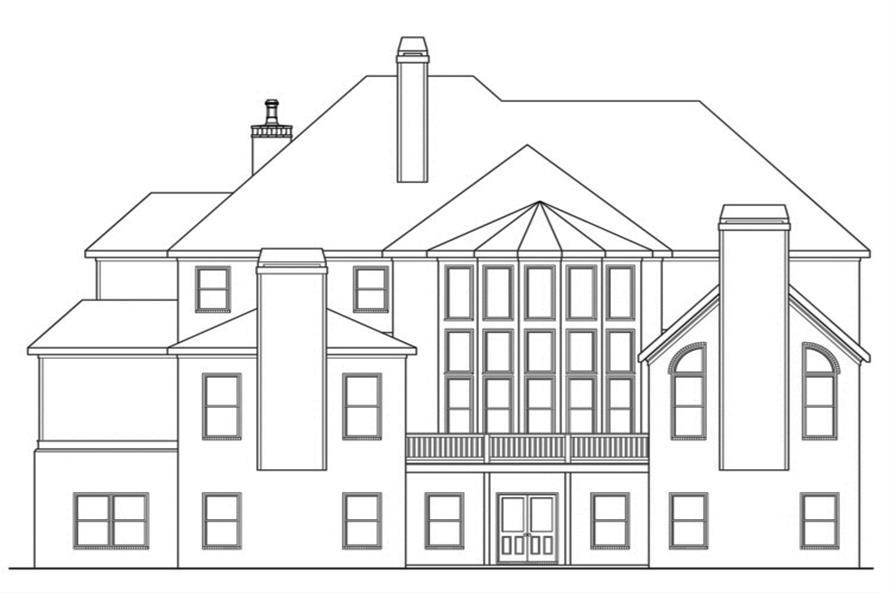 104-1132: Home Plan Rear Elevation