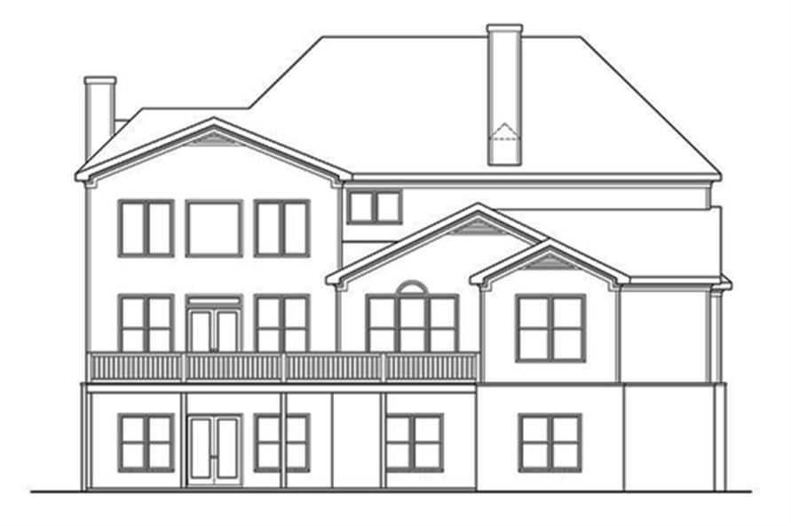 104-1133: Home Plan Rear Elevation