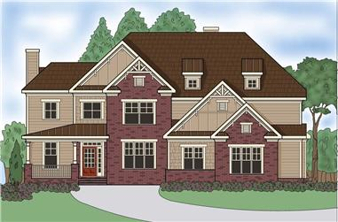 4-Bedroom, 3776 Sq Ft Southern House Plan - 104-1133 - Front Exterior