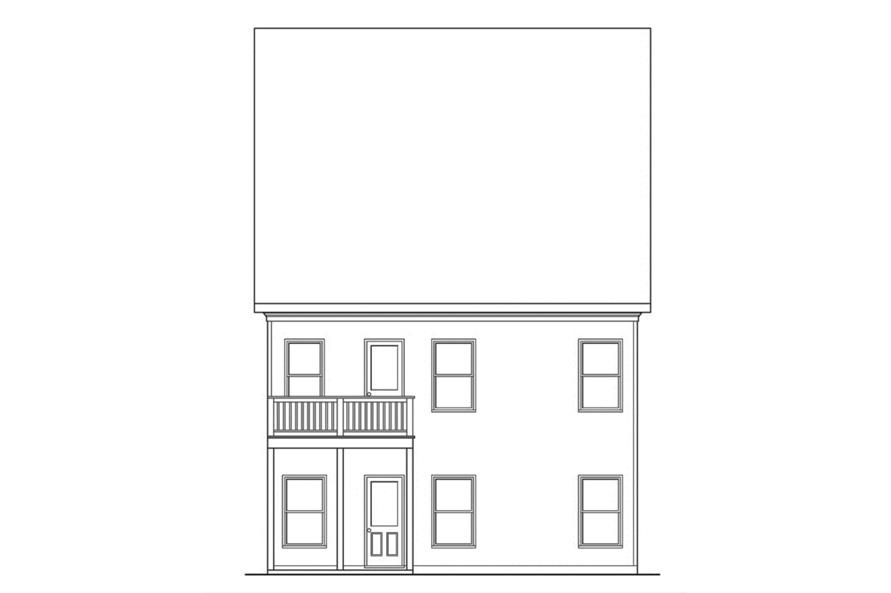 104-1134: Home Plan Rear Elevation
