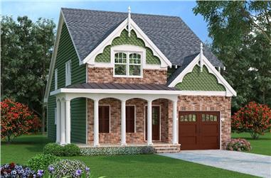 4-Bedroom, 2251 Sq Ft Victorian Home Plan - 104-1134 - Main Exterior