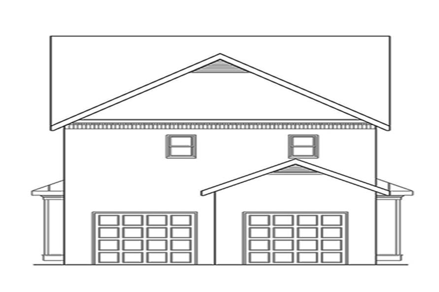 104-1135: Home Plan Rear Elevation