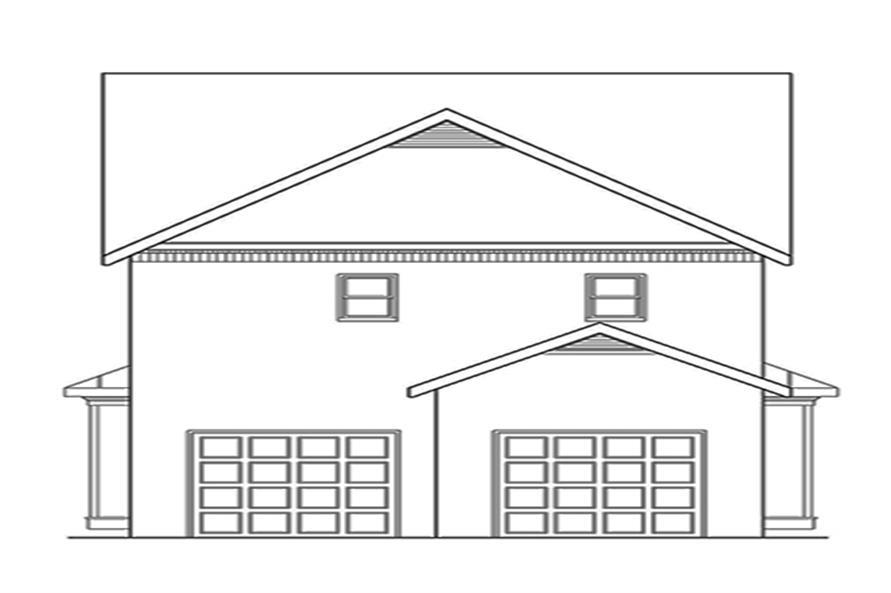 104-1135: Home Plan Rear Elevation