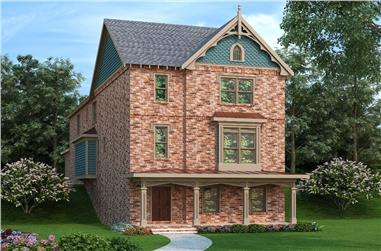 3-Bedroom, 3430 Sq Ft Coastal Home Plan - 104-1135 - Main Exterior
