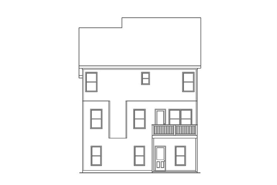 104-1136: Home Plan Rear Elevation