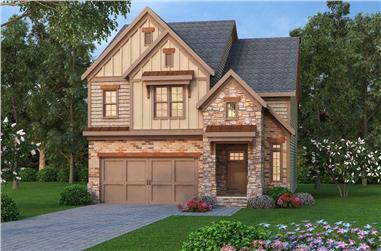 3-Bedroom, 2138 Sq Ft Tudor Home Plan - 104-1136 - Main Exterior
