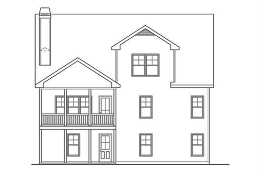 104-1137: Home Plan Rear Elevation