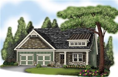 4-Bedroom, 2737 Sq Ft Craftsman Home Plan - 104-1137 - Main Exterior