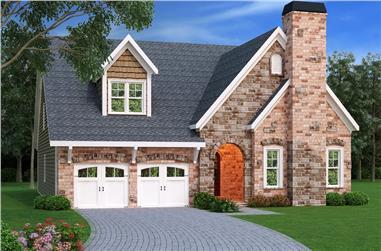 4-Bedroom, 3773 Sq Ft Craftsman Home Plan - 104-1139 - Main Exterior