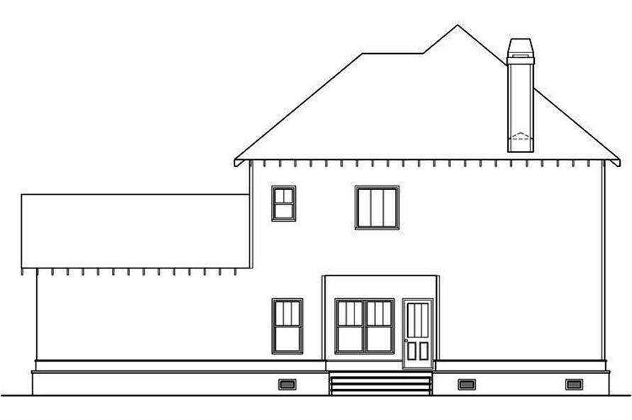 104-1140: Home Plan Rear Elevation