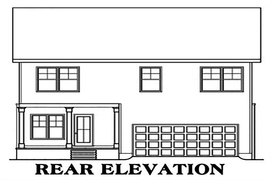 104-1142: Home Plan Rear Elevation