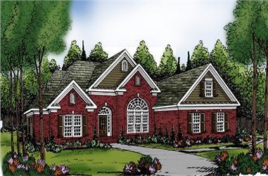 4-Bedroom, 2406 Sq Ft Ranch Home Plan - 104-1144 - Main Exterior