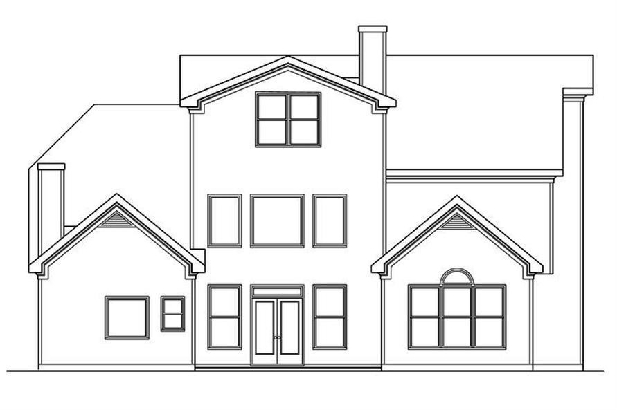 104-1145: Home Plan Rear Elevation