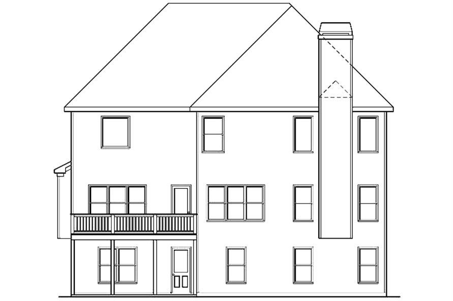 104-1146: Home Plan Rear Elevation