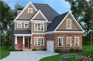4-Bedroom, 2872 Sq Ft Craftsman House Plan - 104-1146 - Front Exterior
