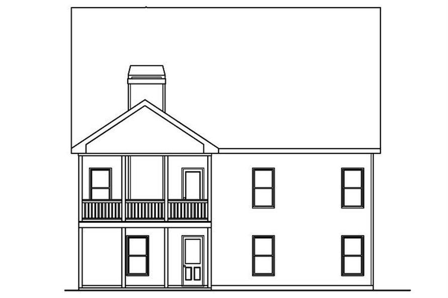104-1147: Home Plan Rear Elevation
