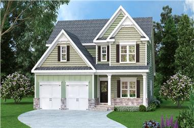 4-Bedroom, 3017 Sq Ft Traditional House Plan - 104-1147 - Front Exterior