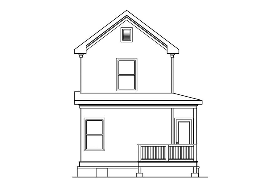 104-1148: Home Plan Rear Elevation