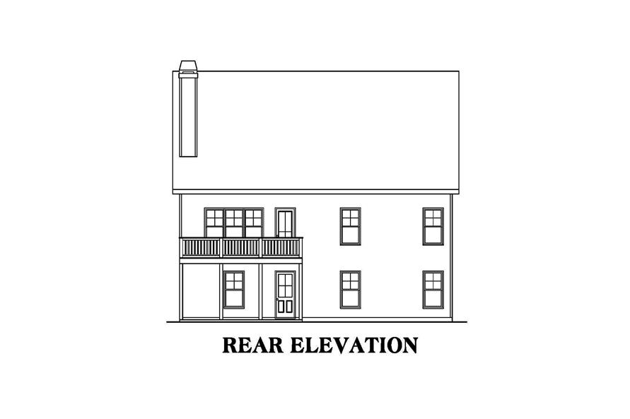 104-1149: Home Plan Rear Elevation
