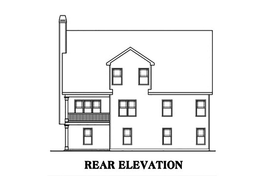 104-1150: Home Plan Rear Elevation