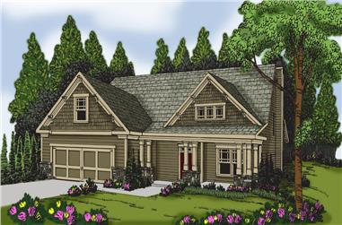 3-Bedroom, 2133 Sq Ft Craftsman Home Plan - 104-1150 - Main Exterior