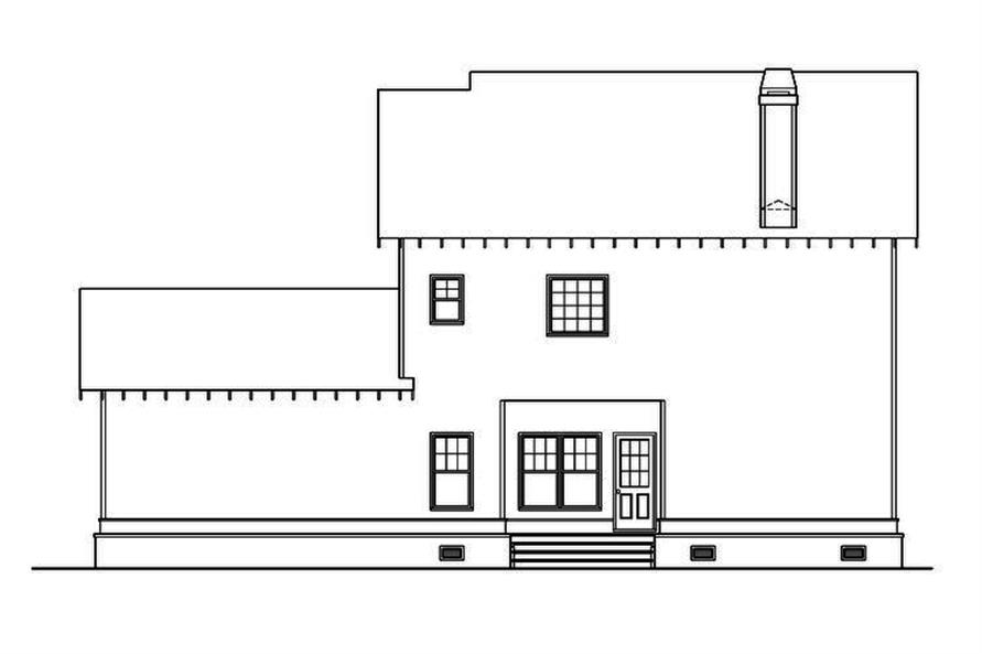 104-1151: Home Plan Rear Elevation