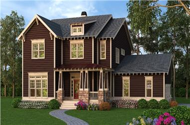 3-Bedroom, 3048 Sq Ft Craftsman Home Plan - 104-1151 - Main Exterior