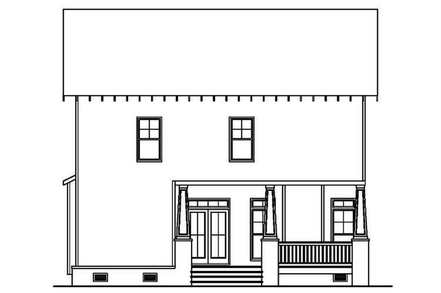 104-1152: Home Plan Rear Elevation