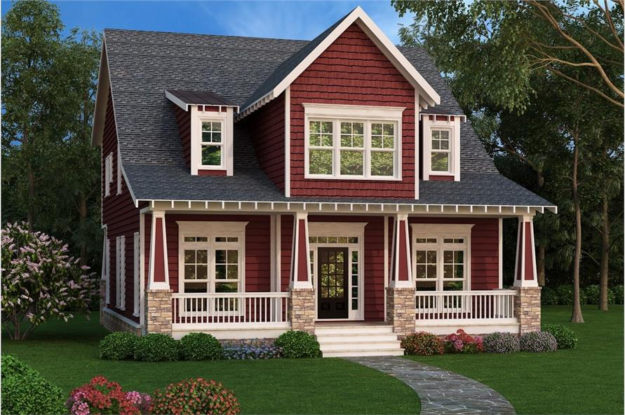Front elevation of Country home (ThePlanCollection: House Plan #104-1152)