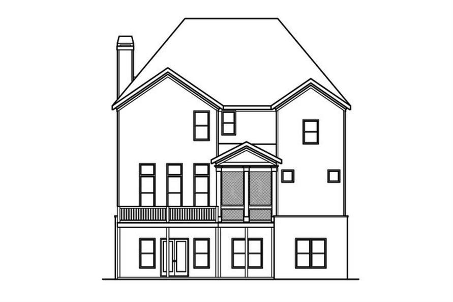 104-1153: Home Plan Rear Elevation