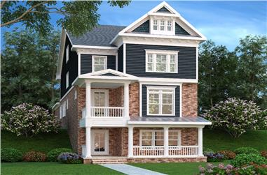 4-Bedroom, 3108 Sq Ft Coastal House Plan - 104-1154 - Front Exterior