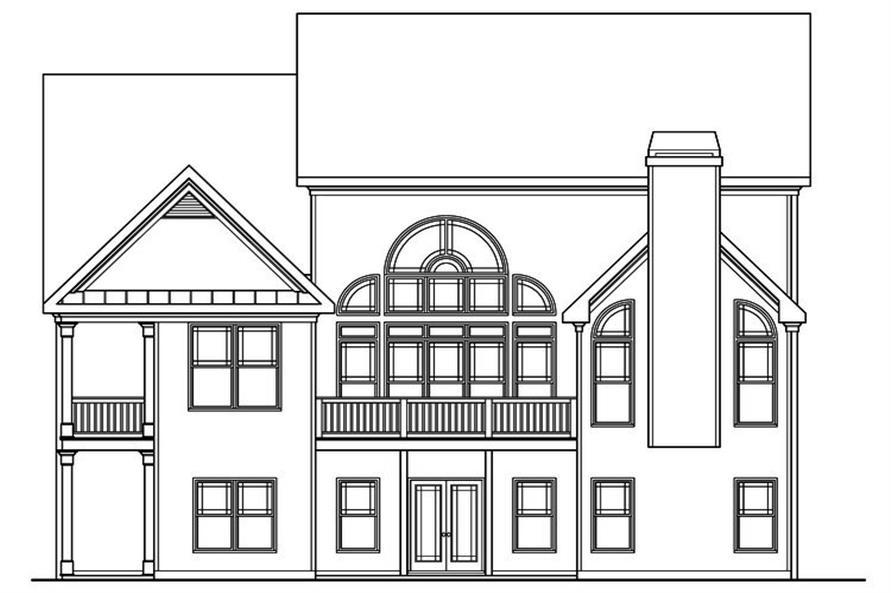 104-1155: Home Plan Rear Elevation