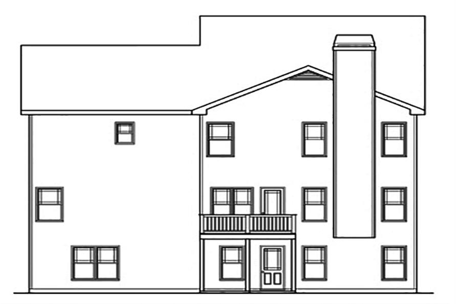 104-1156: Home Plan Rear Elevation