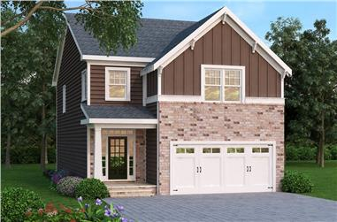 4-Bedroom, 2303 Sq Ft Traditional House Plan - 104-1157 - Front Exterior