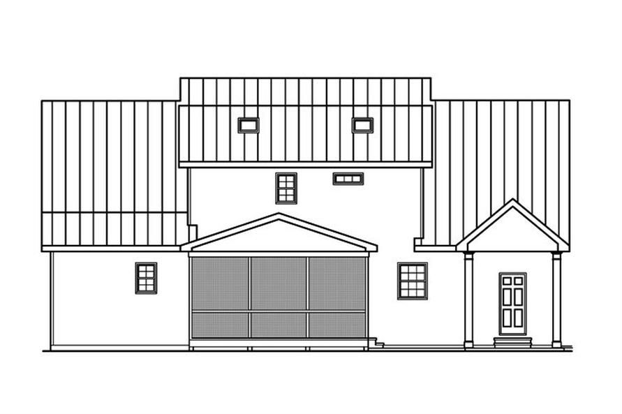 104-1158: Home Plan Rear Elevation