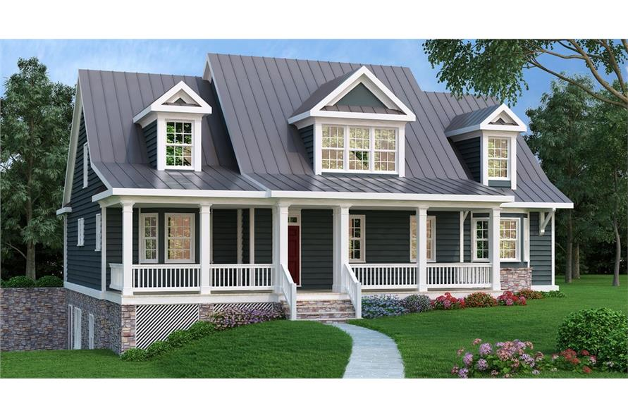 3-Bedroom, 3362 Sq Ft Cape Cod House Plan - 104-1158 - Front Exterior