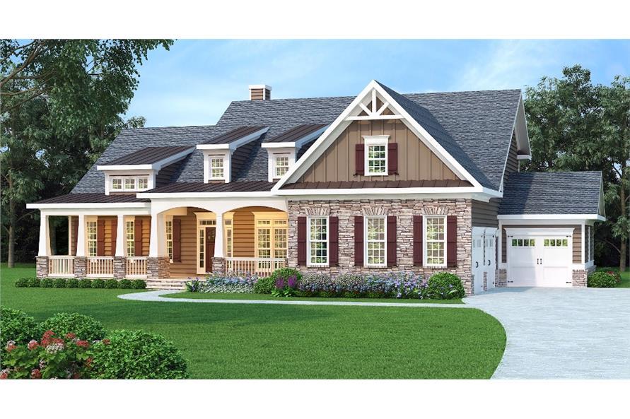 3-Bedroom, 3307 Sq Ft Cape Cod Home Plan - 104-1159 - Main Exterior