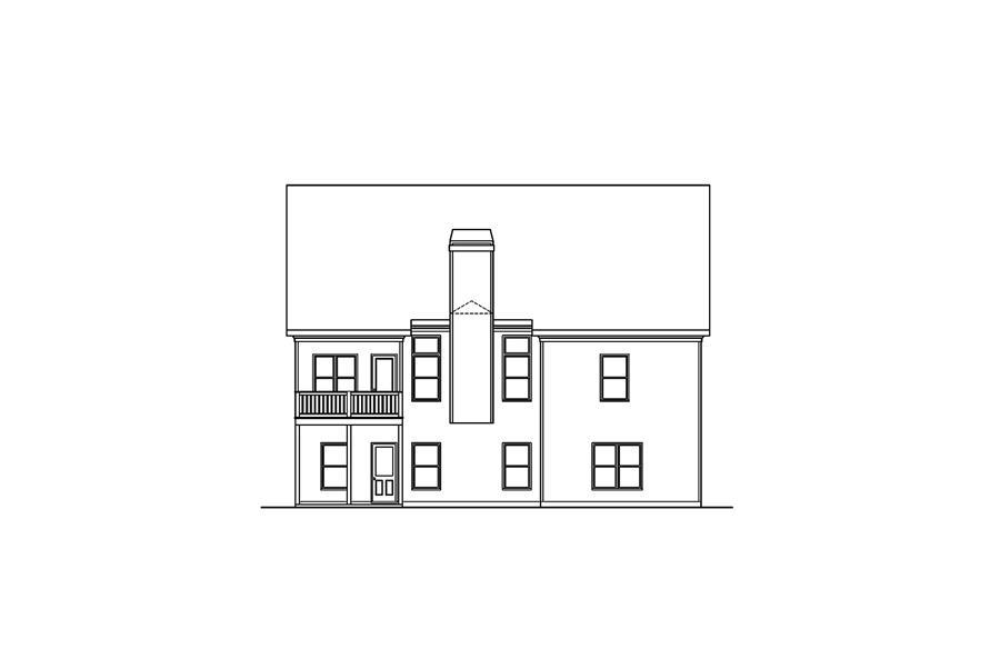 104-1160: Home Plan Rear Elevation