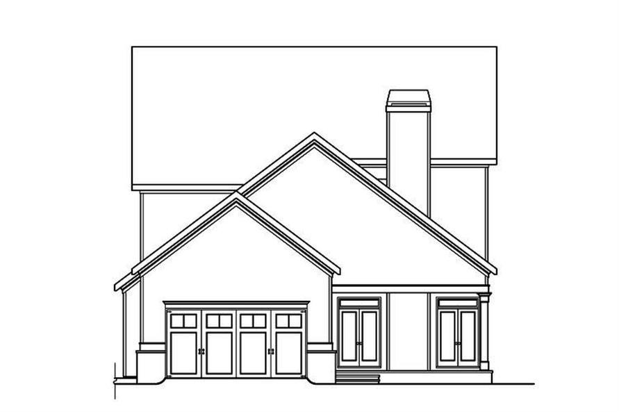 104-1161: Home Plan Rear Elevation