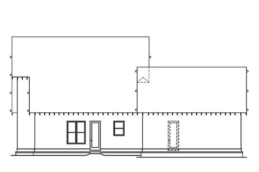 104-1162: Home Plan Rear Elevation